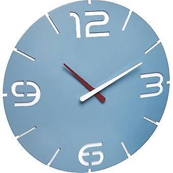TFA Dostmann 60.3047.14 Quartz Wall clock 35 cm x 3.5 cm Blue sea