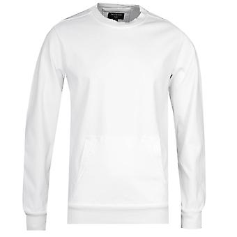 Wahre Religion maßgeschneiderte weiße Rundhals Sweatshirt