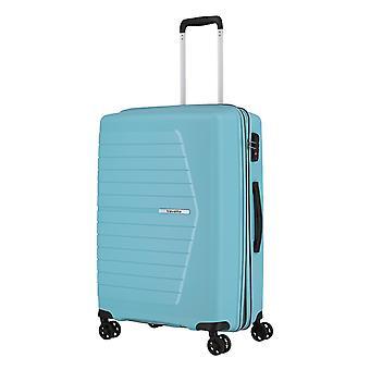travelite Nubis Trolley M, 4 rollen, 67 cm, 70 L, lichtblauw