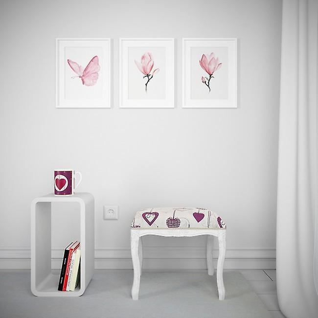 Pouf Goitsemedime Colore Bianco, Multicolore in Legno Di Faggio, L40xP30xA40 cm
