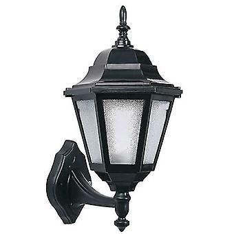 Garten-Wand-Lampe Schwarz Kunststoff Farbe, L21xP20xA36 cm