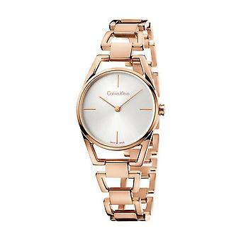 Calvin Klein K7L23646 con correa de acero inoxidable reloj de señora