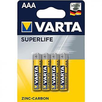 Varta Superlife AAA-batterij (4-pack)