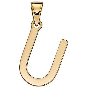 Elements Gold U Pendant - Gold