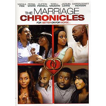 Marriage Chronicles [DVD] USA import