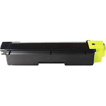 RudyTwos Replacement for Kyocera TK-580Y Toner Cartridge Yellow Compatible with Mita FS-C5150, FS-C5150DN, FS-C5150N