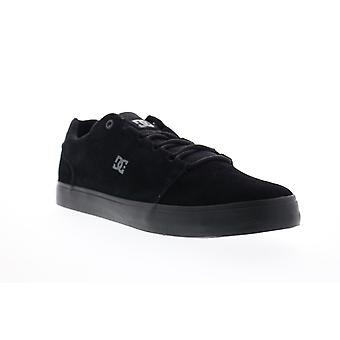 DC Hyde S Evan  Mens Black Suede Athletic Lace Up Skate Shoes