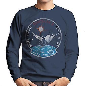 NASA-STS 51 F Challenger Mission Abzeichen Distressed Herren Sweatshirt