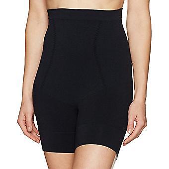 Merk - Arabella Women's naadloze taille vormgeven dij controle shapewear, zwart, groot
