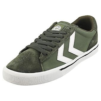hummel Nile Low Mens Casual Trainers in Olive