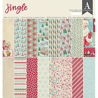 Authentique Jingle 12x12 pulgadas De papel Pad