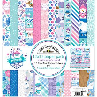 Doodlebug Design Winter Wonderland 12x12 Inch Paper Pack