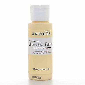 Peinture acrylique Docrafts (2oz) - Babeurre (DOO 763205)