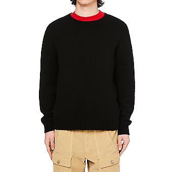 Palm Angels Pmhe027f20kni0011001 Homme-apos;s Sweat-shirt en coton noir