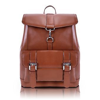 88024, Hagen Leather Laptop Backpack - Brown