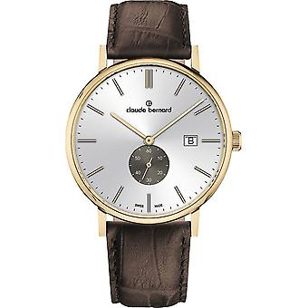 Claude Bernard - Wristwatch - Men - Slim line small second - 65004 37J AIDG
