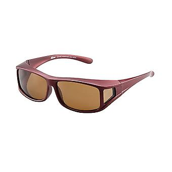 Sunglasses Unisex red with brown lens Vz0001wl