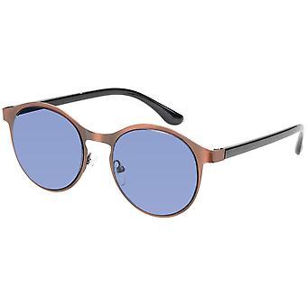 Okulary przeciwsłoneczne Unisex Panto matowe złoto / niebieski (A-Z17615)