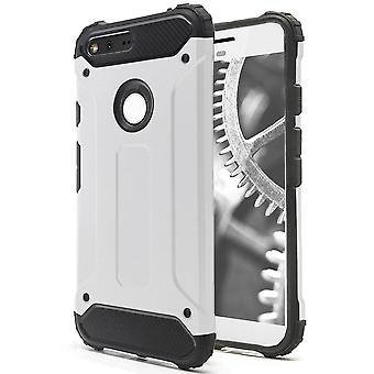 Shell to Google Pixel White Armor Protection Case Hard
