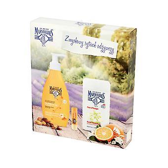 Le Petit Marseillais Body Care Moisturising Milk 400ml Shower Cream 250ml, Lip Balm Stick