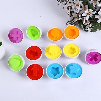 6pcs matching Eggs - Erkennung Sere für Kleinkinder