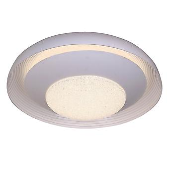 Flush Ceiling Light 76cm Ronde 40W LED 3000-6500K Tuneable, 3200lm, afstandsbediening Wit