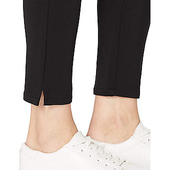 Brand - Daily Ritual Women's Ponte Side-Zip Ankle-Length Pant, Black , Large