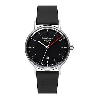 Bauhaus 2140-2 Black Dial With Date Wristwatch