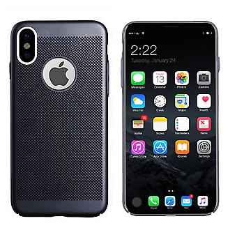 Colorfone iPhone X/Xs Shell com furo (preto)
