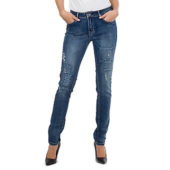Ripped Distressed Faded Skinny Stretch Jeans
