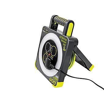 Masterplug Work Light Cable Reel 240V 13A 4-Socket 5m WLU05134SL-PX
