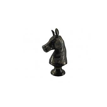 Horse Head Silver Antique - Chess Piece
