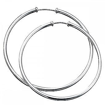 Beginnings Sterling Silver E238 Plain Hoop Earrings