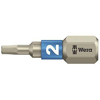 Wera 3840/1 TS Torsion rustfrit stål Indsæt Bit Hex 2,0 x 25mm WER071071