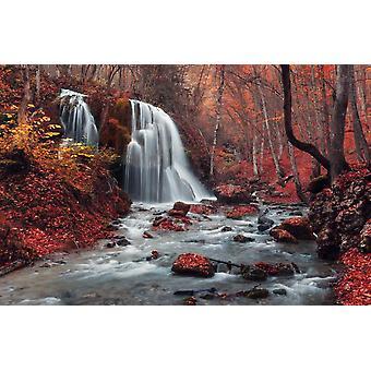 Wall Mural Silver Stream Waterfall