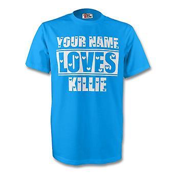 Ditt namn älskar Killie T-shirt (sky)