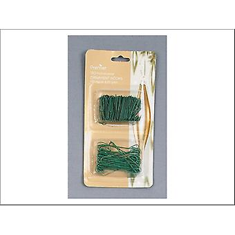 Premier Decorations Ornament Hook 50 Large + 100 Regular Green AC97408GR