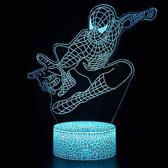 3D لمسة ضوء ليلة 7 ألوان التحكم عن بعد - الرجل العنكبوت #1041
