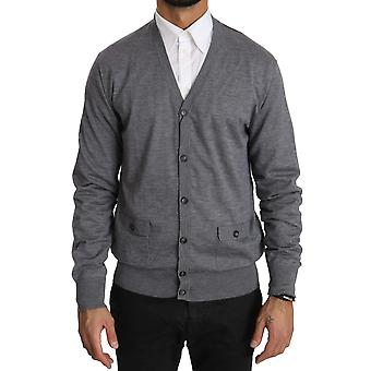 Gris Cashmere Button Down Cardigan Pull