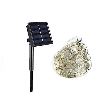 Solar String Light, Hopealanka satu, Vedenpitävä-led