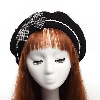 Casquette de bonnet de peintre de laine faite à la main pour la femme.