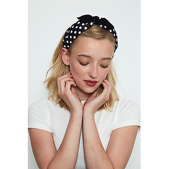 Louche Womens Ezekiel Spotted Headband Black