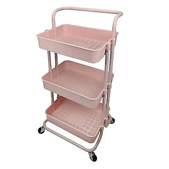 Movable Shelf Wheels Household Stand Holder, Kitchen Furniture 3 Tier Storage