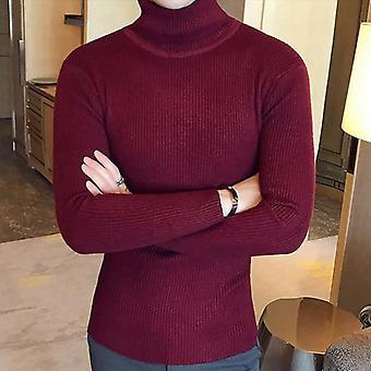 الشتاء عالية الرقبة سميكة سترة دافئة سليم صالح pullover التريكو