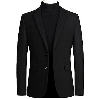 Men's Woolen Formal Wedding Suit Jacket Hommes Business Casual Slim Blazers