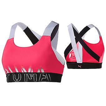 Puma Feel It Womens Work Out Training Crop Top Sports Bra Pink 518289 02