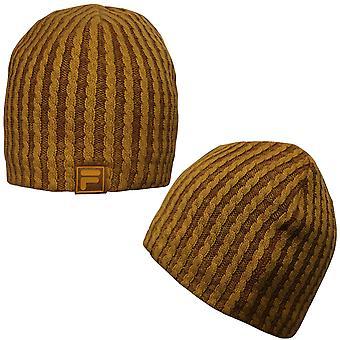 Fila Unisex Menss Mens Mens البالغات الشتاء Beanie Hat Mustard AC01201 737 UW