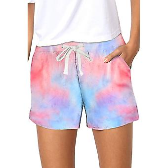 Womens Tie Dye Casual Shorts