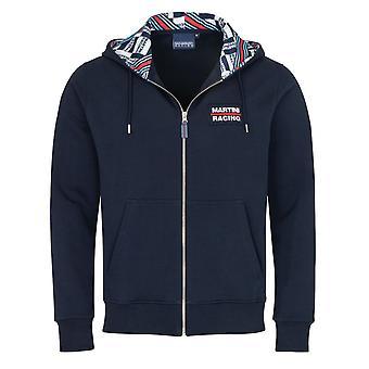 Martini Racing Sweatshirt Zip Up With Hood Navy