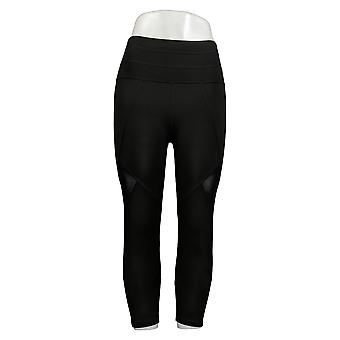 Tracy Anderson for G.I.L.I. Leggings Regular Printed Crop Black A354969